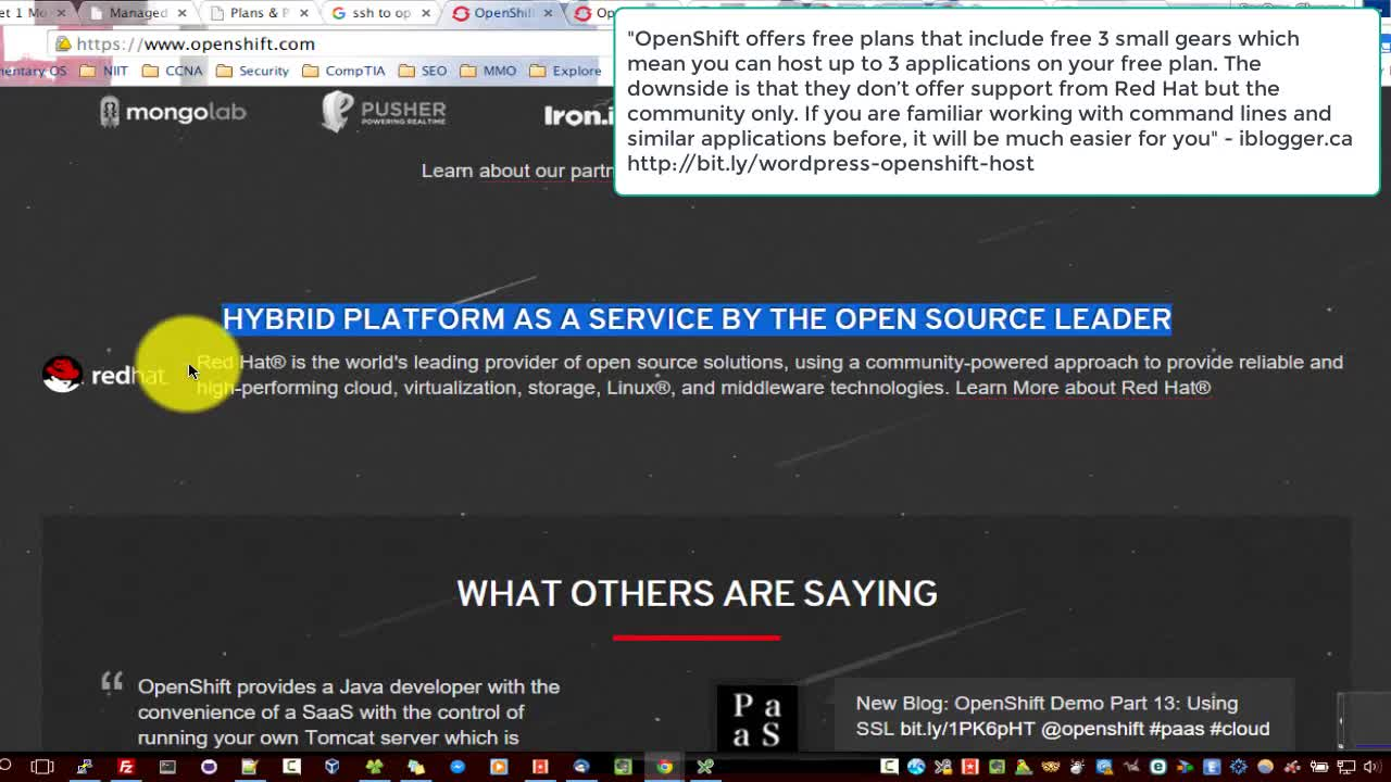 OpenShift PaaS and the WordPress host missing manual Best WP Hosting Alternative to RedHat 2019 | WordPress-PHP-NGINX